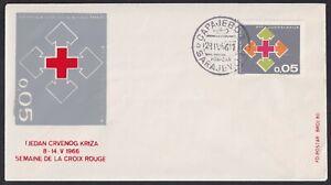 Yugoslavia, 1966, Red Cross, Tax obligatory stamps, rare FDC (Sarajevo)
