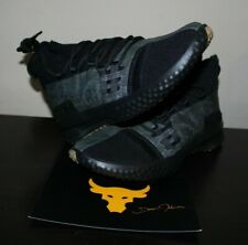 UA Project Rock 1 'Black Gum' Black Under Armour 3020788-002 Men's Sz 10 NIB