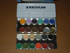 Kryolan Aquacolor - 24 Color Makeup Palette 1108K for Face and Body Paint