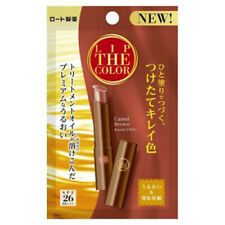 [ROHTO] LIP THE COLOR Moisturizing Tinted Lip Balm SPF26 Camel Brown JAPAN NEW