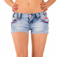 Sexy New Women's Hot Summer Pants Shorts With Pink Zippers K 474