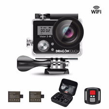 Dragon Touch Vision 3 4K WiFi Sports Action Camera Ultra HD Underwater DV Camcor
