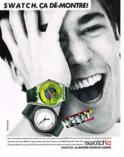 PUBLICITE ADVERTISING  1985   SWATCH  collection montres Suisses