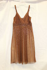 BCBG Max Azria Brown Cute Summer Dress Women's Size 4 EXCELLENT Used Condition