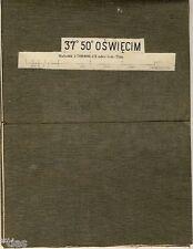 Karte 37° 50° Powiat Oswiecim Kreis Auschwitz Polen Kleinpolen Galizien 1891