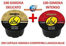 200 gimoka Espresso Italia Cialde TOP Caffe Capsule compatibili Lavazza Blue blu