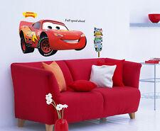 XL Pixar Cars éclairage McQueen Garçons autocollant mural chambre bébé énorme