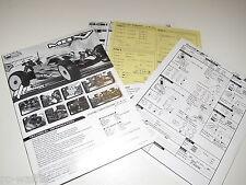 E-2011 MUGEN MBX7 NITRO M-SPEC BUGGY INSTRUCTION MANUALS WITH TECH SHEETS