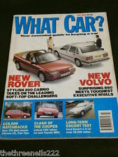WHAT CAR? - ROVER 200 CABRIO - JULY 1992