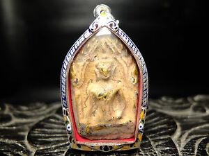 Old antiqua Pra Khun Phaen Gru Wat Ban Krang, Supann Buri  .thai buddha Real