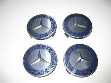 4x Mercedes Benz Radnabendeckel Radnaben Radkappen  Dunkelblau
