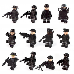 12pcs Military Special Forces Soldiers Blocks Figures Legoing Minifigures Swat