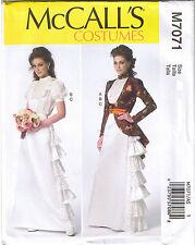 Victorian Steampunk Ruffled Wedding Dress Blouse Skirt Jacket Sz 14 16 18 20 22
