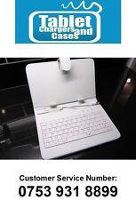 "White Ainol Novo 7"" Flame/Fire USB Keyboard PU Leather Case Stand/Holder"