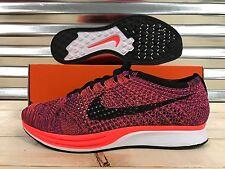 Nike Flyknit Racer Running Shoes Hyper Orange Vivid Purple SZ 11.5 (526628-008)