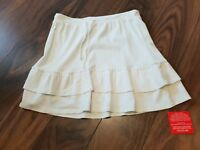 Ladies white  Frill Edge Skirt Size 12 new with Tags