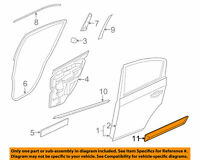 REAR RH DOOR Body Side Molding for 10-12 NISSAN Sentra 82870ZT59A GENUINE OEM