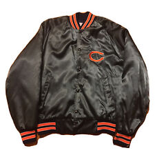 VTG 80s Chicago Bears Jacket Men's Medium Quilted Puffer Lined Stitched Logo NFL