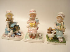 Napcoware Figurines Country Girl Kimberly, Sarah & Julie of Scarboro Faire