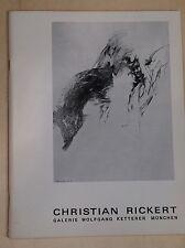 Christian Rickert magazzino catalogo 48 Galleria Wolfgang Ketterer Monaco