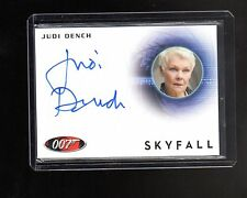 James Bond 2013 Autographs & Relic Judi Dench auto card #1