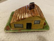 Vintage Old Shorter &Son Stoke On Trent Cottage Cheese Butter Dish Hand Painted