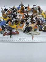 #39 Plastic Zoo Animals Lot Of 100 Birds Party Favor Goodie Bag Carnival Toy POS