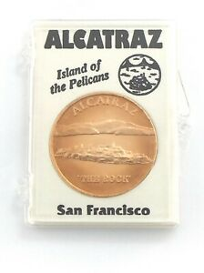 Alcatraz Island The Rock Of The Pelicans San Francisco Copper Token L101