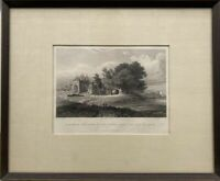 Ruin On The Banks of The Jumna 1831 India Calcutta Steel Engraving W.Taylor