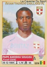 094 AMODOU SOUGOU SENEGAL EVIAN THONON GAILLARD STICKER FOOTBALL 2015 PANINI ~