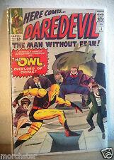 DAREDEVIL 3 SIGNED STAN LEE ORIGIN & 1ST APPEARANCE OF THE OWL MARVEL SPIDERMAN