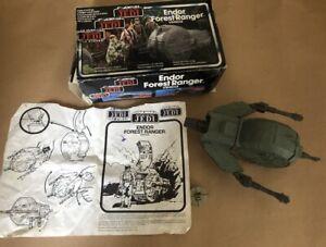 UK Star Wars ENDOR FOREST RANGER VEHICLE BOXED COMPLETE 1983 Kenner MOC