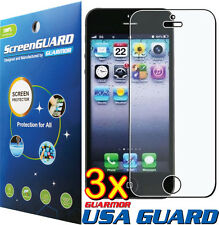 3x Clear LCD Screen Protector Shield Cover Guard Film Apple iPhone 5 5S 5C USA
