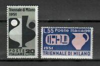 s21580) ITALIA 1951 MNH**Nuovi** Triennale Milano 2v