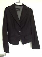 BCBG Maxazria Crepe Blazer Di Lana Taglia S 10 12 Nero