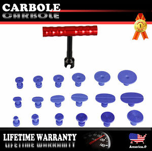 Set of 18PCS Tabs & T-Bar Hammer Puller Lifter Paint - free Dent Repair Tool
