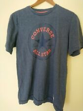 Vintage Converse All Star Chuck Taylor  Cotton Tshirt Sz L Grey Thick Cotton
