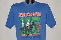 vintage 80s KENTUCKY DERBY 115TH LOUISVILLE KENTUCKY BLUE 1989 t-shirt LARGE L