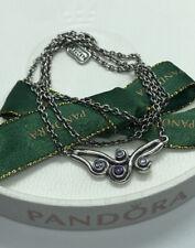 Pandora Ocean Waves Necklace, 59112 45cm 590112 Purple Rare Retired Authentic