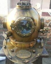 Antique-Scuba SCA-Divers Diving+Helmet US Navy Mark V Deep Sea Marine Divers bid