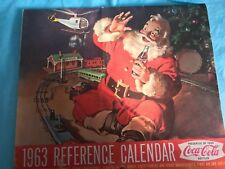 COCA COLA 1963 REFERENCE CALENDAR---GOOD CONDITION-----------------------rp