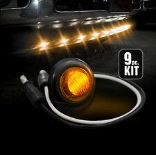 Ford Dodge GMC Universal Truck Front Air Dam 9pc Light Kit with Amber LED Bulbs