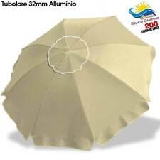 Ombrellone da spiaggia Alluminio 2 mt con Snodo tessuto Polyestere Ecru Palo 32