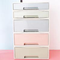 Desktop Storage Box Plastic Cosmetic Makeup Drawer Table Case Sundries Organizer