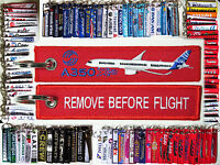 Keyring AIRBUS A350 in RED Remove Before Flight keychain for pilot crew