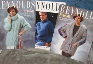10-Reynolds Mens Ladies Vest/Cardigan/Pullover/Jacket Book Knit Fast Shipping!