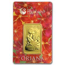 1 oz Gold Bar - Perth Mint Oriana Design (In Assay) - SKU #23565