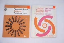 Summer 1969 1970 Irish Railway Train Railway Timetable x2 CIE Ireland