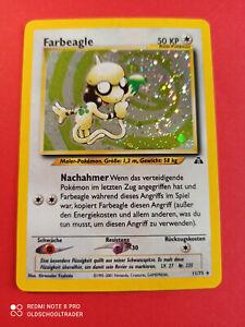 Pokemon Farbeagle Holo Neo Entdeckung 11/75 NM TCG DE Vintage PP&FAST SWIRL #1