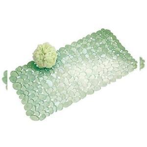 iDesign Pebblz Non-Slip Suction Bath Mat for Shower, Bathtub - Green